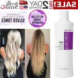 350ml Purple Shampoo Remove No Yellow Lightened Decolored Gr