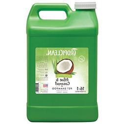 TropiClean Aloe & Coconut Deodorizing Pet Shampoo, 2.5 Gallo