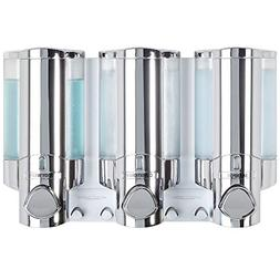 Bathroom Shower 3 Chamber Liquid Soap Dispenser Pump Shampoo