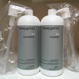 Living Proof FULL Shampoo & Conditioner SET 32oz Liters PUMP