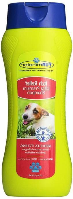 FURminator Itch Relief Ultra Premium Shampoo for Dog, 16 Flu
