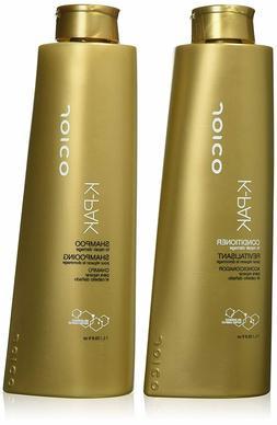 Joico K-PAK Shampoo & Conditioner Fine Hair Liter Duo Set, 3
