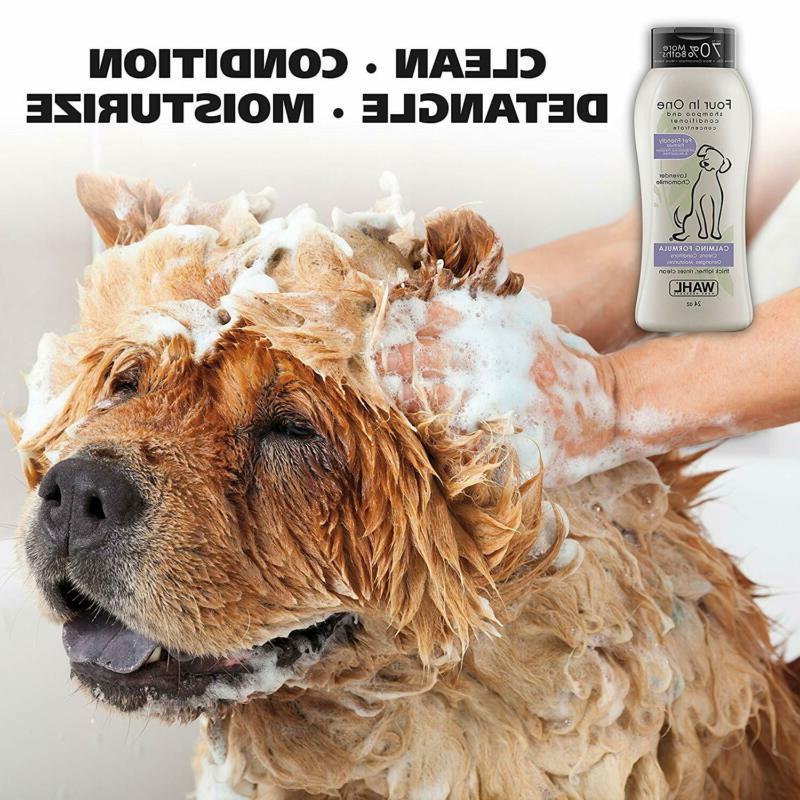 Wahl 4-In-1 Calming Pet Shampoo – Detangles, Moisturizes