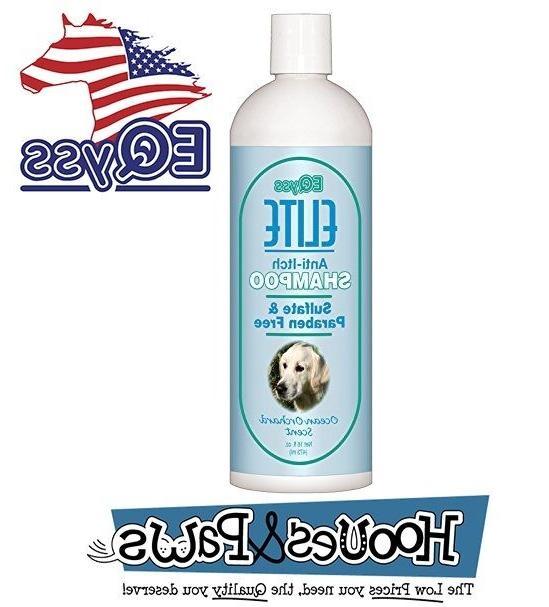 elite dog anti itch shampoo natural 16oz