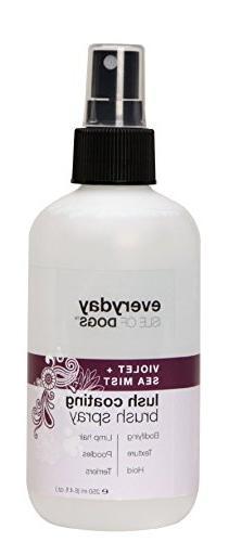 Everyday Isle of Dogs Lush Coating Dog Brush Spray, Violet +