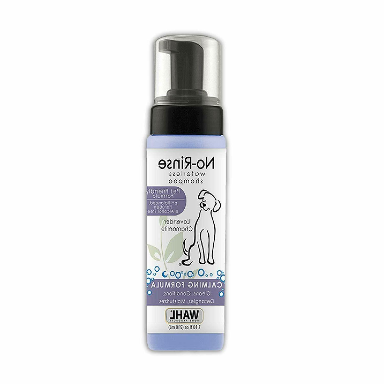 pet friendly lavender waterless no rinse shampoo