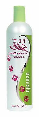 pet silk cucumber melon shampoo 16 ounce