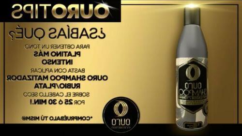 OURO SHAMPOO CABELLO PLATINADO CABELLO CANOSO 8.45