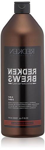 Redken Brews 3‑in‑1 Shampoo, Conditioner & Body Wash 33.