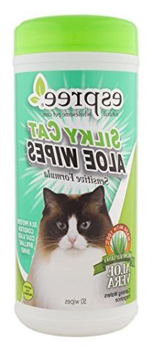 Espree Silky Cat Aloe Wipes, 50 count