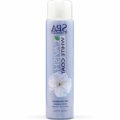 spa pet shampoo white coats