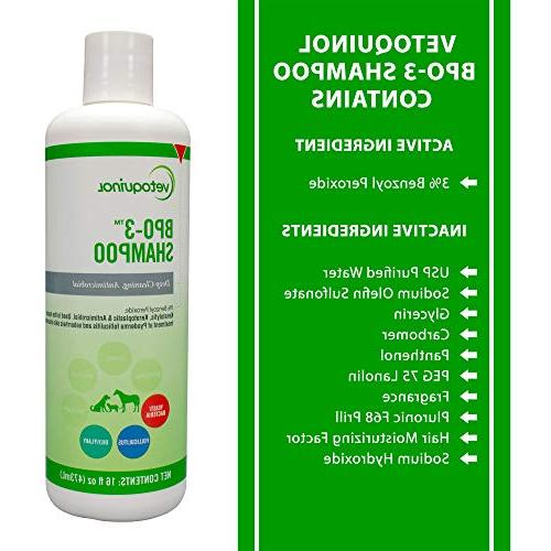 Vetoquinol BPO-3 Dogs, Cats & – Cleaning, & Flushes – Degreases – Itchy