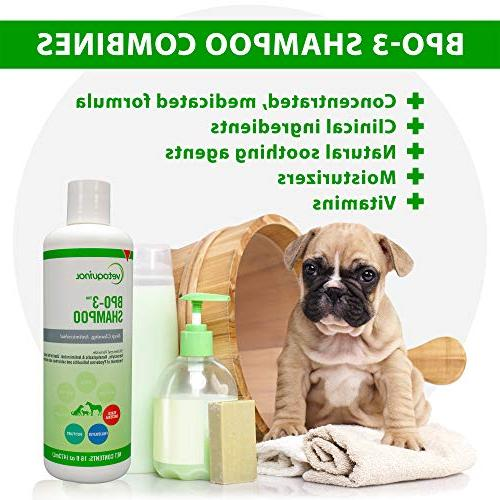 Vetoquinol BPO-3 for Dogs, & – – Cleaning, Medicated & Flushes – – Soothes Itchy Skin