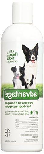 Advantage ZX5690 12 Treatment Shampoo Dog, 12-Ounce