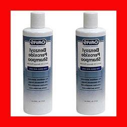 Lot of 2 Davis Benzoyl Peroxide Shampoo 12 oz Demodectic Man