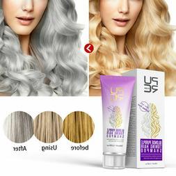 Purple Hair Shampoo Blonde Hair Lighten Discolored Silver Ha