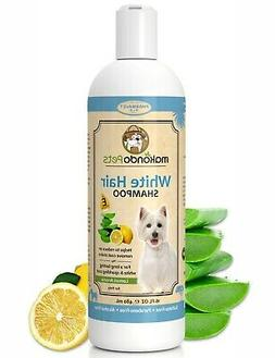 Whitening Shampoo for Dogs and Cats. Sulfate Free with Natur