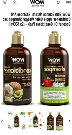 WOW Shampoo and Conditioner Set - All Natural, Sulfate Free